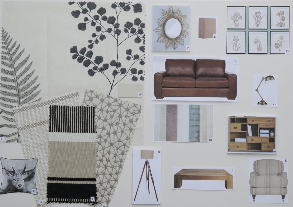 Classic Style Living Room Moodboard