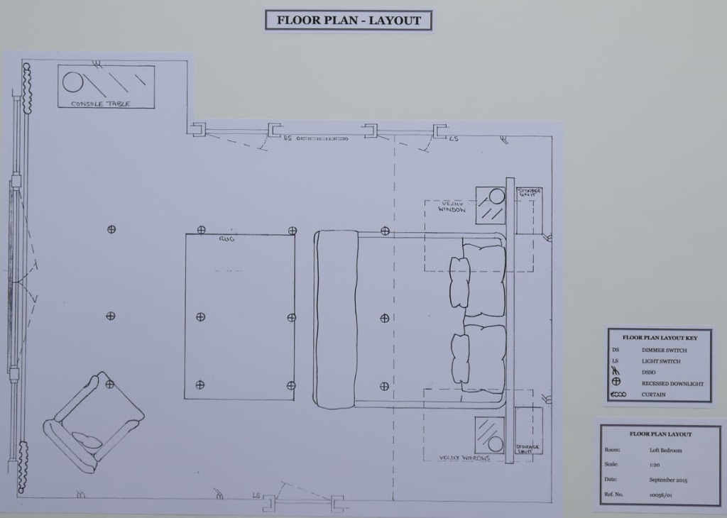 Loft bedroom floor plan