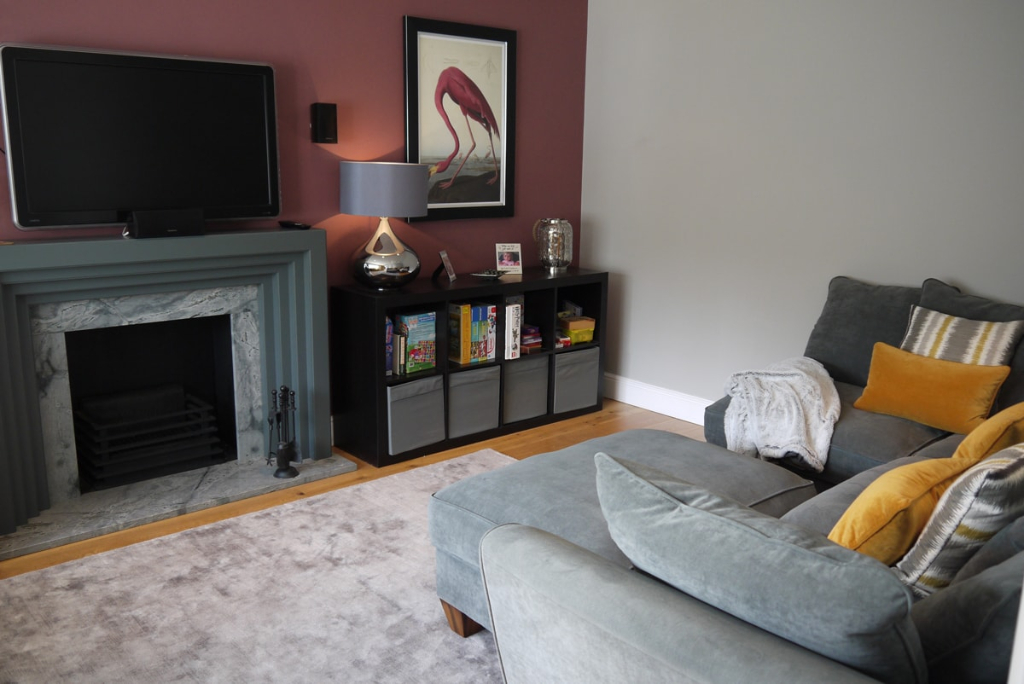 TV snug room, bespoke fire surround