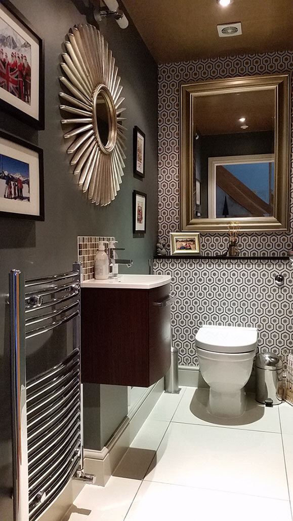 Gold themed toilet