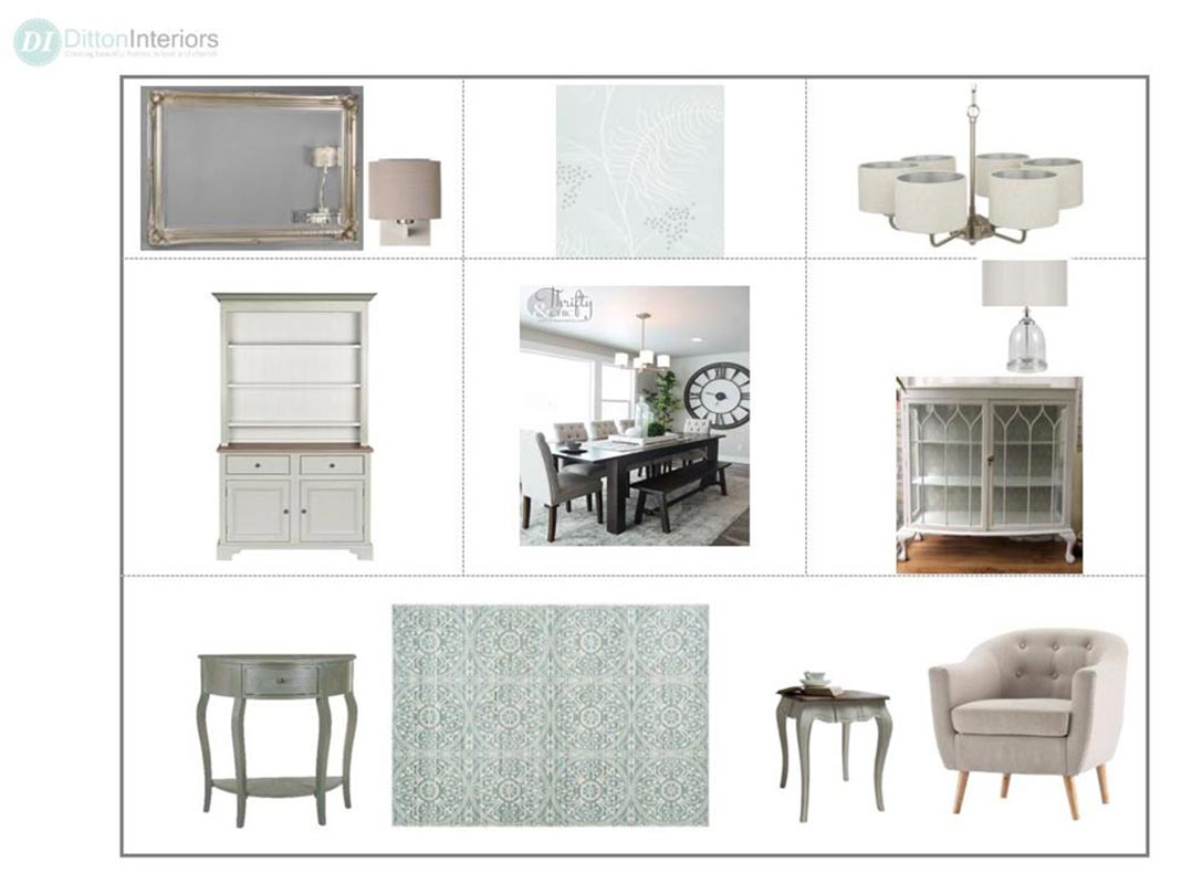 Dining Room Concept Board