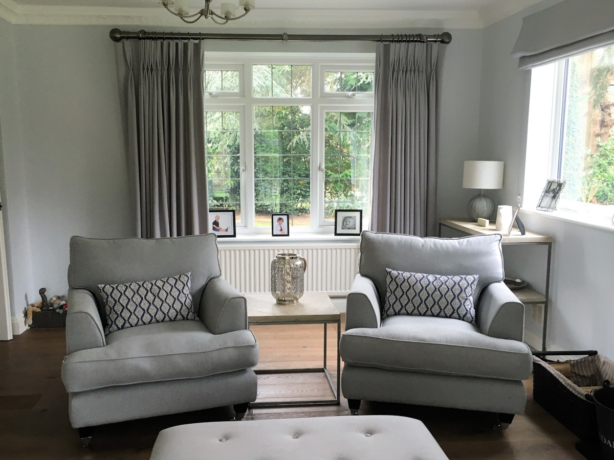 Calm grey living room