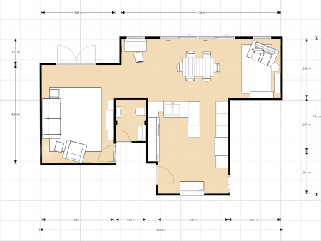 2D room floorplan, interior design, ditton interiors