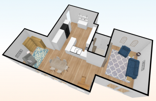 3D room layout, interior design, ditton interiors