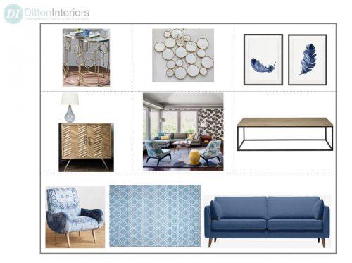 Blue Scandinavian Style Concept Board
