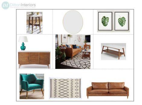 Scandinavian Concept board, interior design