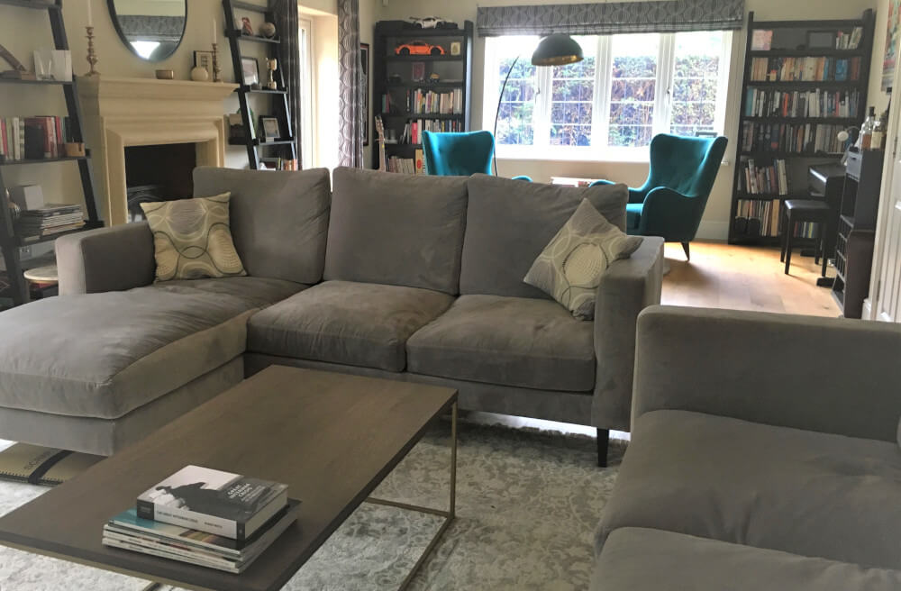 Contemporary Living Room Weybridge with Living Area and seperate reading corner