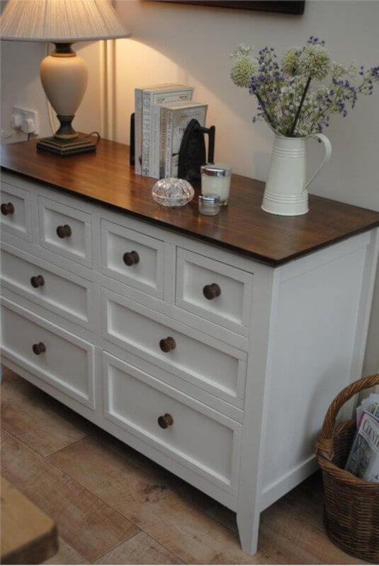 Upcycled Sideboard in Classic Contemporary Living Room